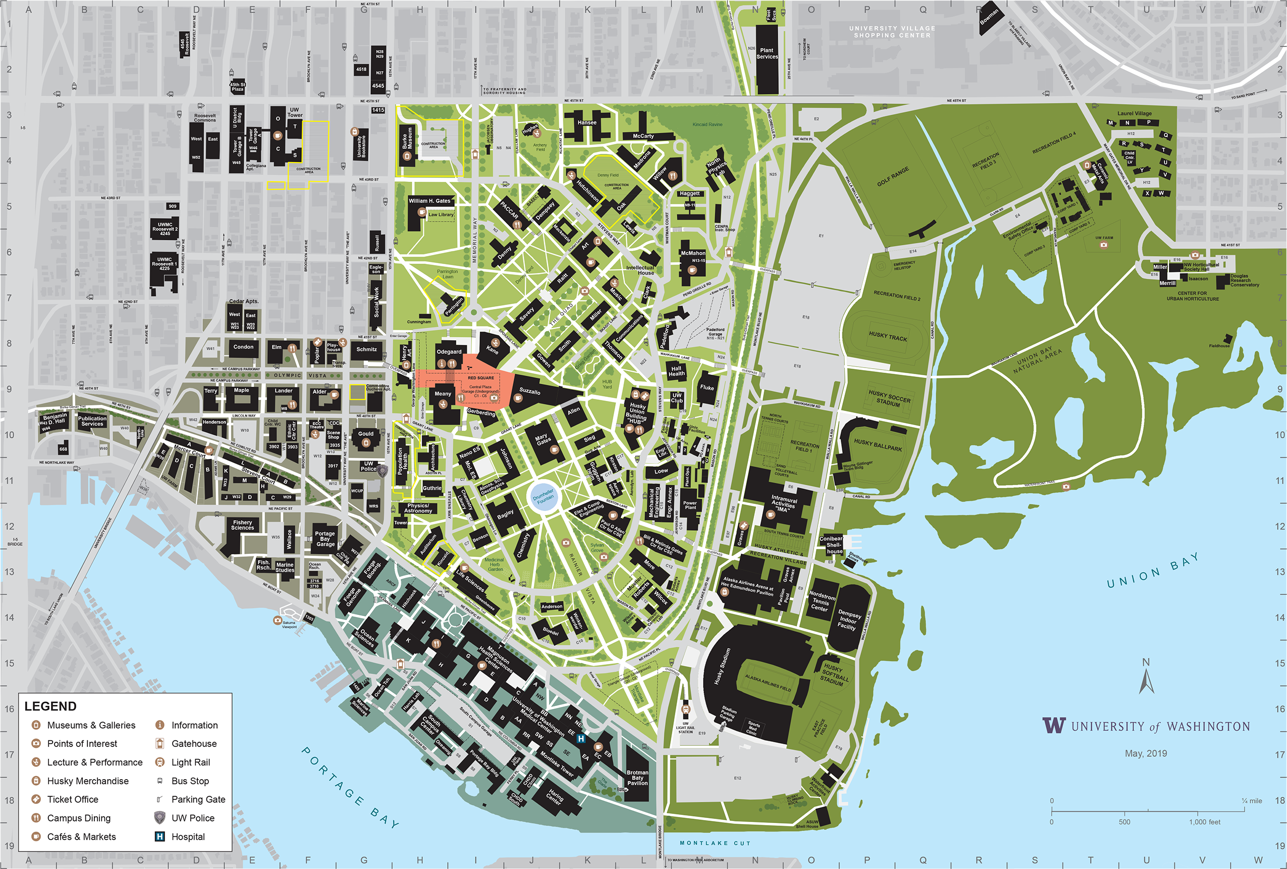 university washington campus map Apl Uw Website Campus Map